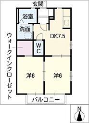 サニーヒル永和 C棟[1階]の間取り