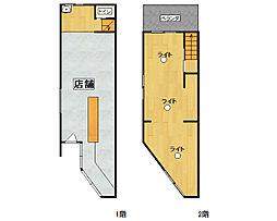 大阪市旭区高殿6丁目 中古一戸建て 1LDKの間取り