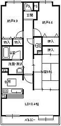 チサンマンション東鷲宮[206号室]の間取り