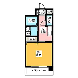 ジャスティス駅東[10階]の間取り