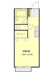 神奈川県横浜市神奈川区神大寺2丁目の賃貸アパートの間取り