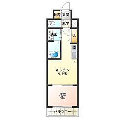 F maison ELENA[1階]の間取り