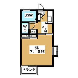 メゾンゴトウJrII[2階]の間取り