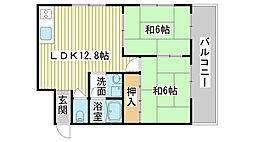 岡村ハイツ[102号室]の間取り
