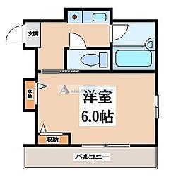 大阪府東大阪市末広町の賃貸マンションの間取り