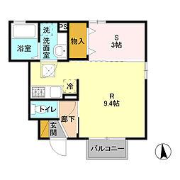 オプティマールA  片柳町4丁目[101号室]の間取り