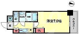 ファーストフィオーレ新梅田 8階1Kの間取り