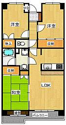 カーサ・フィヨーレ2[2階]の間取り