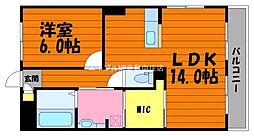 岡山県倉敷市沖丁目なしの賃貸マンションの間取り