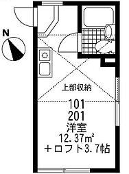 ステージ大口[1階]の間取り
