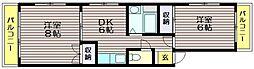 ドミシール烏山[304号室]の間取り