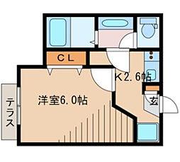 東京都板橋区志村2丁目の賃貸マンションの間取り