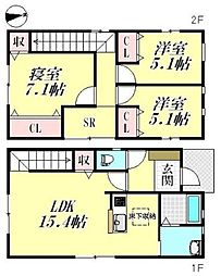 [一戸建] 滋賀県愛知郡愛荘町愛知川 の賃貸【/】の間取り