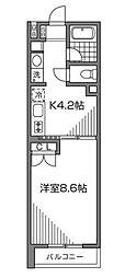 ラコリッタカラスヤマ[1階]の間取り