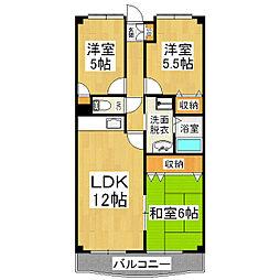 ラトゥールTOWA[2階]の間取り