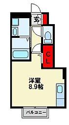 エスペランサ祇園原町[206号室]の間取り