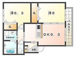 KTIレジデンス大和田A棟[2階]の間取り
