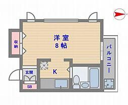 ラピスヤン東野[205号室号室]の間取り