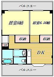 湊ハイツ[2階]の間取り