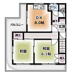 柳町マンション[401号室]の間取り