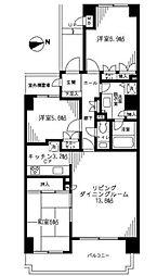 コスモ東戸塚グランパルクA棟[3階]の間取り