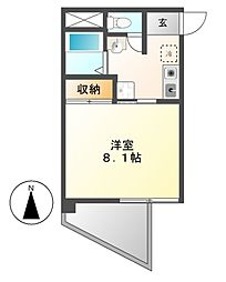 HYマンション[4階]の間取り