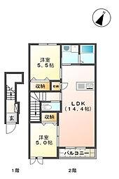 (仮称)桜森アパート2[206号室]の間取り