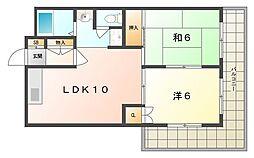 COM'S35[4階]の間取り
