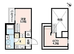 ハピネス II 吉塚[1階]の間取り