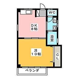 プロキオンハイツ[2階]の間取り