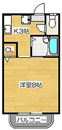 フレグランスIIB[105号室]の間取り
