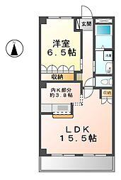愛知県清須市西枇杷島町地領1丁目の賃貸アパートの間取り