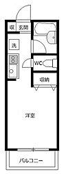 ジュネスAOKI1[3階]の間取り