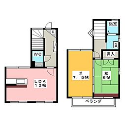 [一戸建] 愛知県名古屋市熱田区横田1丁目 の賃貸【/】の間取り