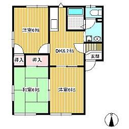 フレグランス北沢[2階]の間取り