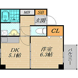 ARM21[5階]の間取り