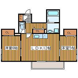 ロイヤルホーク[6階]の間取り