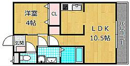 オオミネスクエア10[1階]の間取り