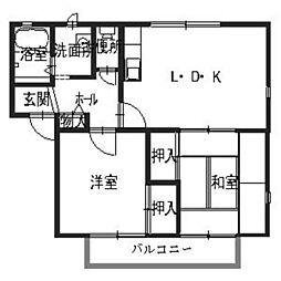 フレグランス大江島[A202号室]の間取り