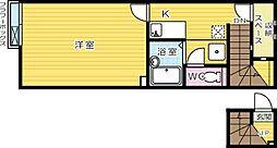 レオネクスト中曽根[2階]の間取り