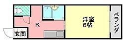 フェラII番館[402号室]の間取り