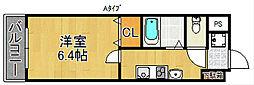 オズレジデンス天下茶屋[4階]の間取り
