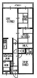 クオレグランデ[3階]の間取り