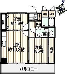 レインボー日暮[2階]の間取り