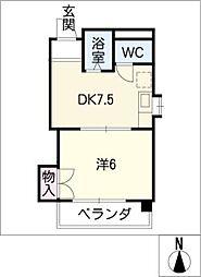ベルメゾン太田[2階]の間取り