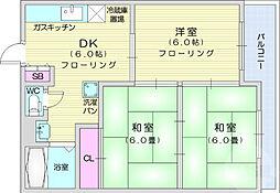 ABEコーポ 1階3DKの間取り