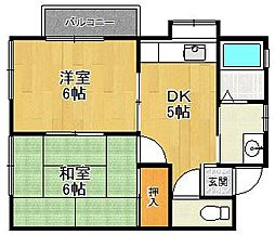 コーポTOYO[2階]の間取り