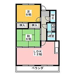 第2ブルーサンテ横地[3階]の間取り