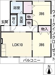 セジュールMIII B棟[1階]の間取り