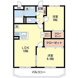 新潟県新潟市西区坂井東3丁目の賃貸マンションの間取り